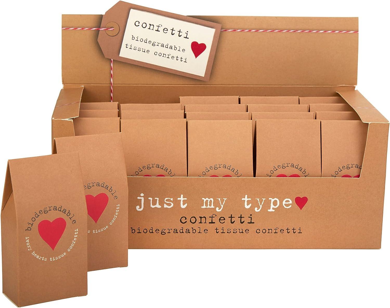 Neviti Just My Type Confeti de Tejidos, Papel, marrón, 10 x 5 x 3 ...