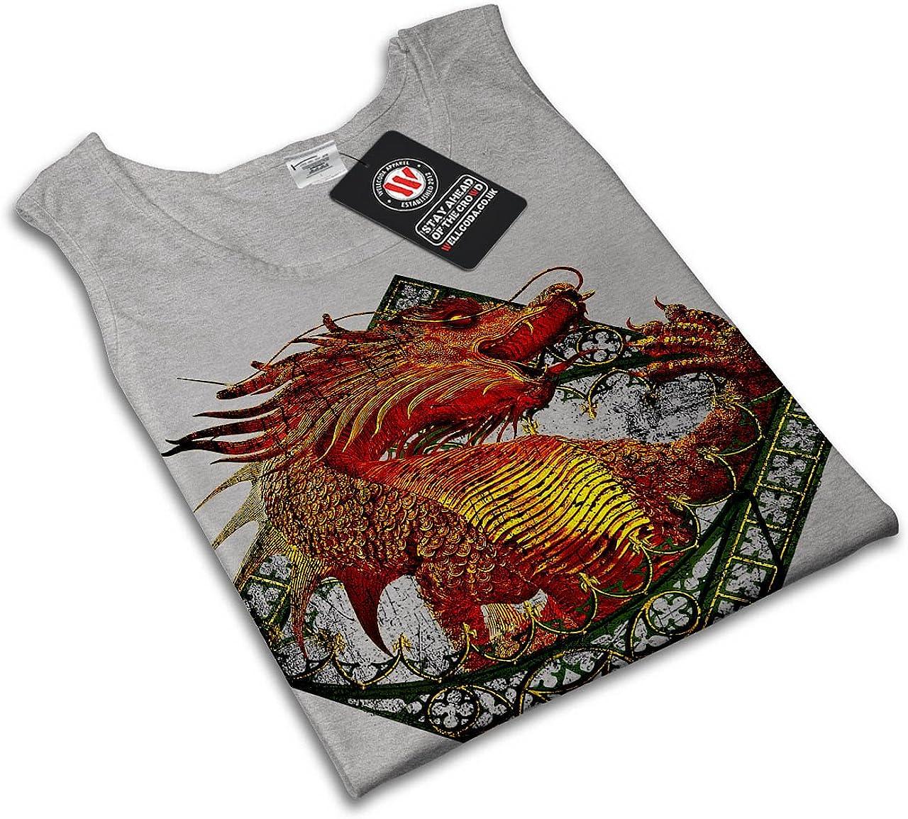 wellcoda asiatisch Drachen Frau Tank Top Mythisch/ Athletisches Sport-Shirt