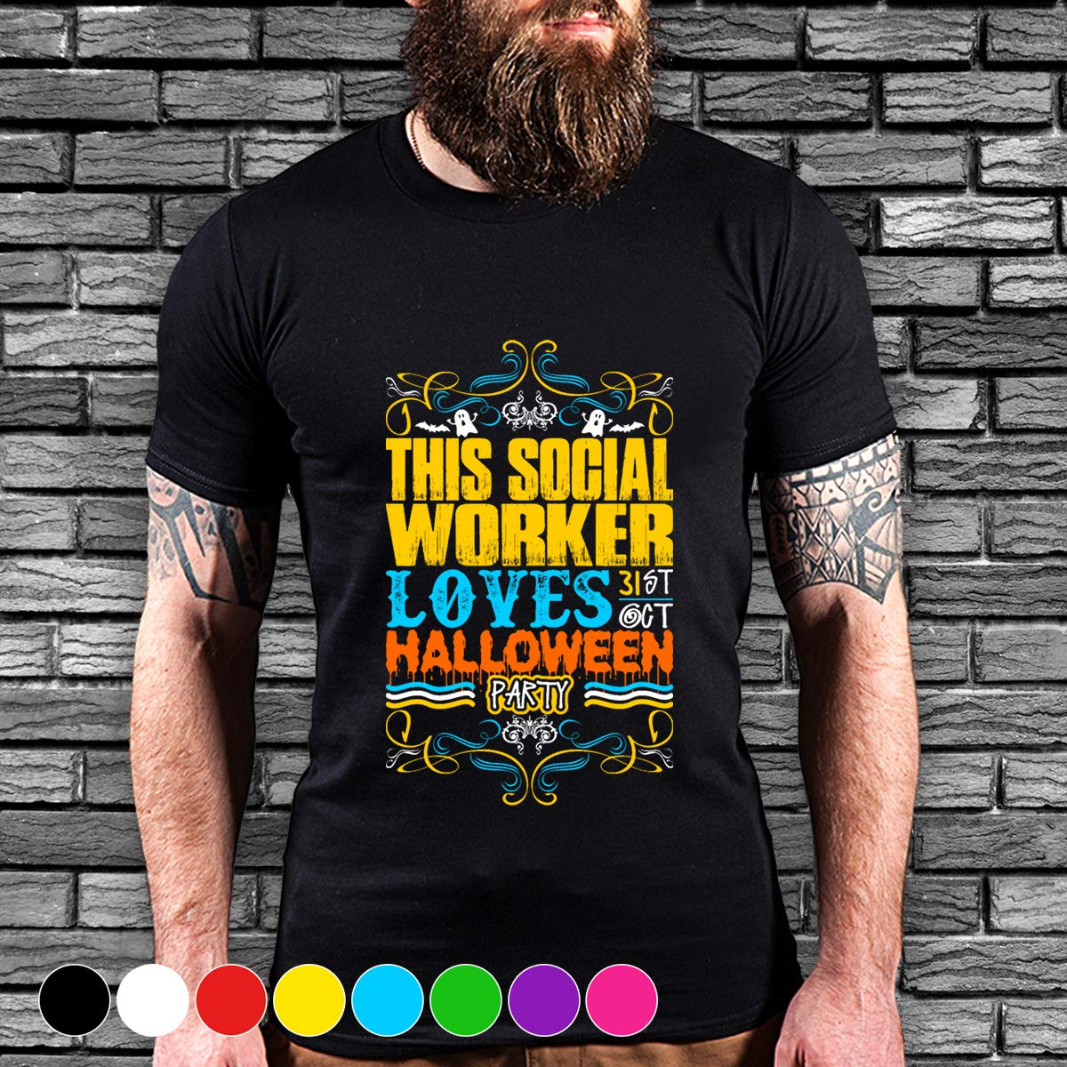Social Worker This Social Worker Loves 31st Oct Halloween Party T Shirt