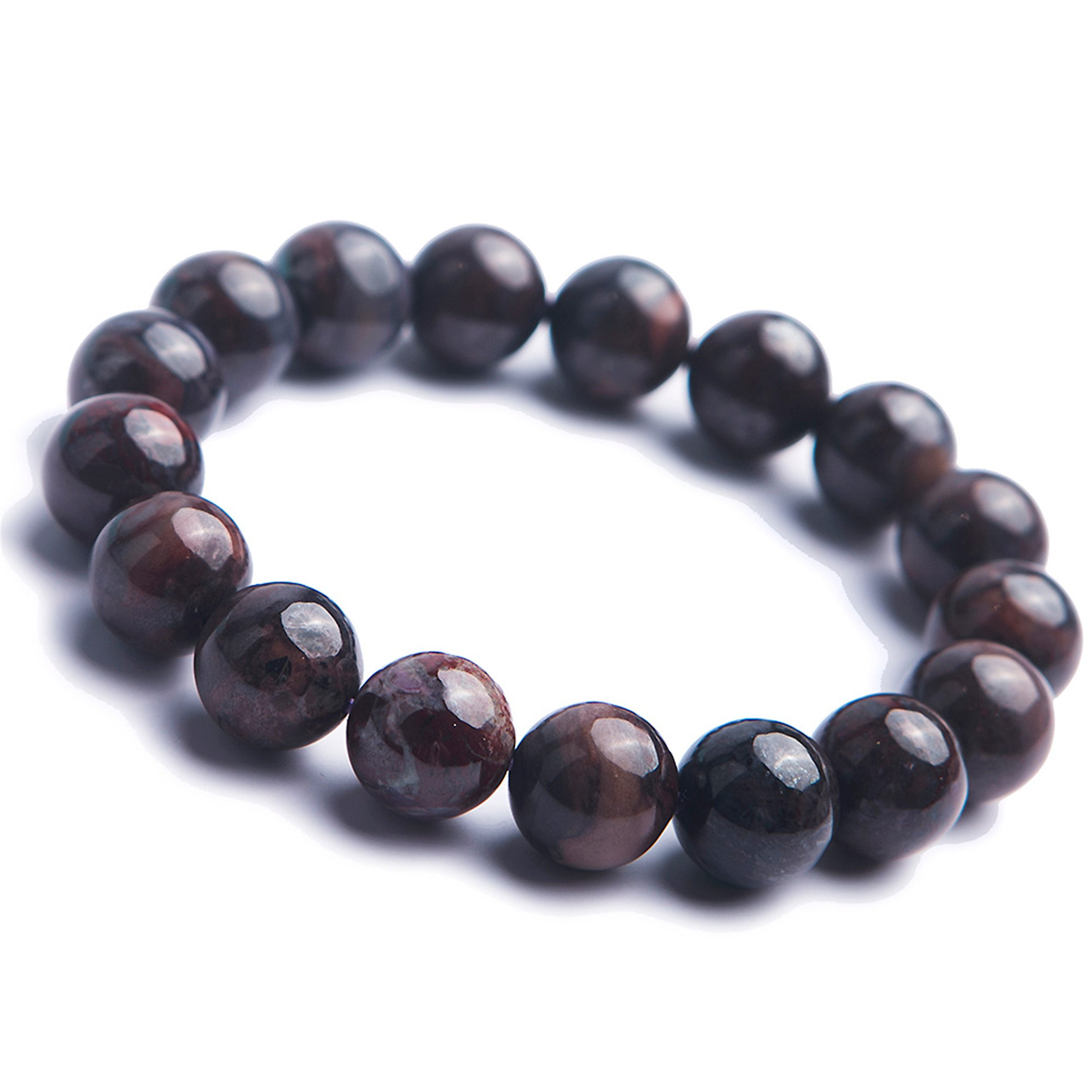 12.5mm Natural Sugilite Bracelets Women Crystal Stretch Round Bead Bracelet
