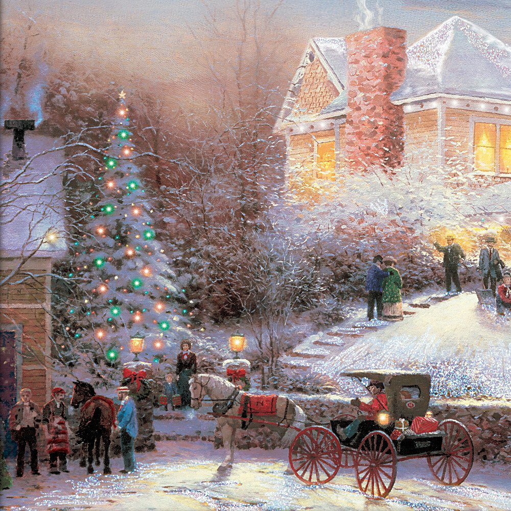 Amazon.com: Wall Decor: Thomas Kinkade Victorian Christmas II Wall ...