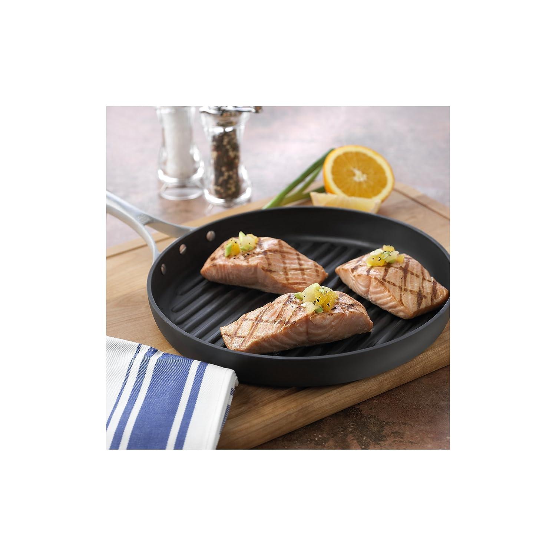 amazoncom calphalon unison nonstick 12inch round grill pan kitchen u0026 dining - Calphalon Reviews