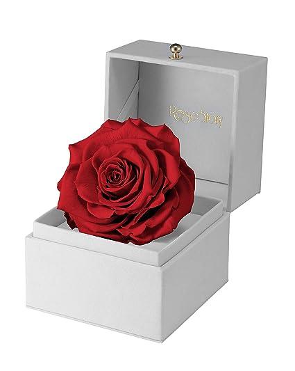 Amazon Com Rosestory Preserved Red Rose Gift Box Anniversary Gift