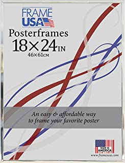 product image for Frame USA 18x24 Hardboard Poster Frames (Silver) | Multiple Color Options Available