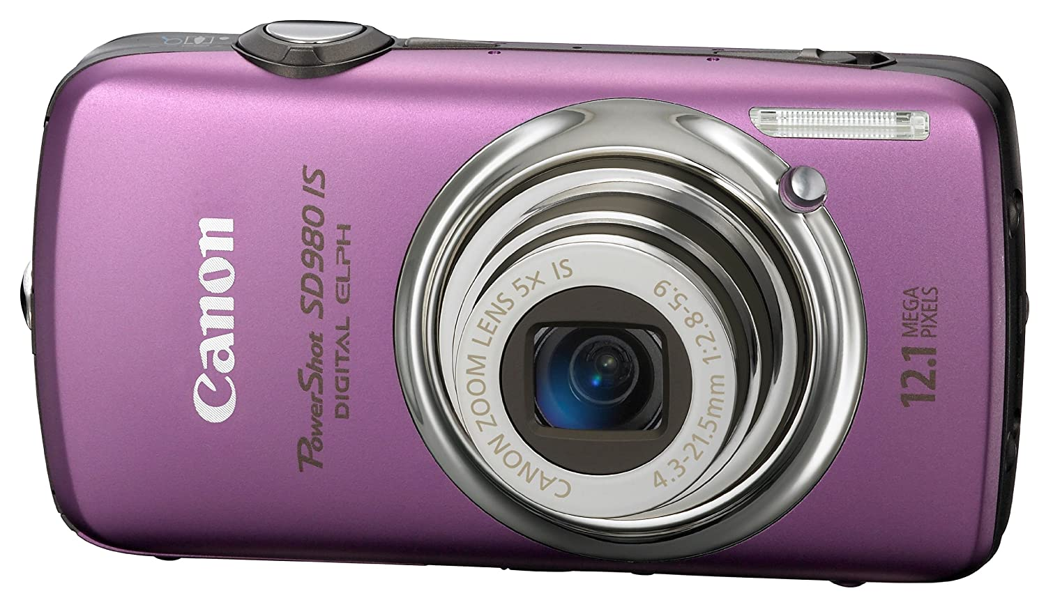 Canon PowerShot SD980IS 12.1MP Digital Camera with 5x Ultra Wide Angle Optical Image Stabilized Zoom and 3-inch LCD (Silver)
