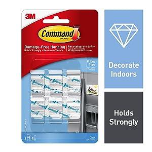 Command Fridge Clips, Indoor Use (17210CLR)