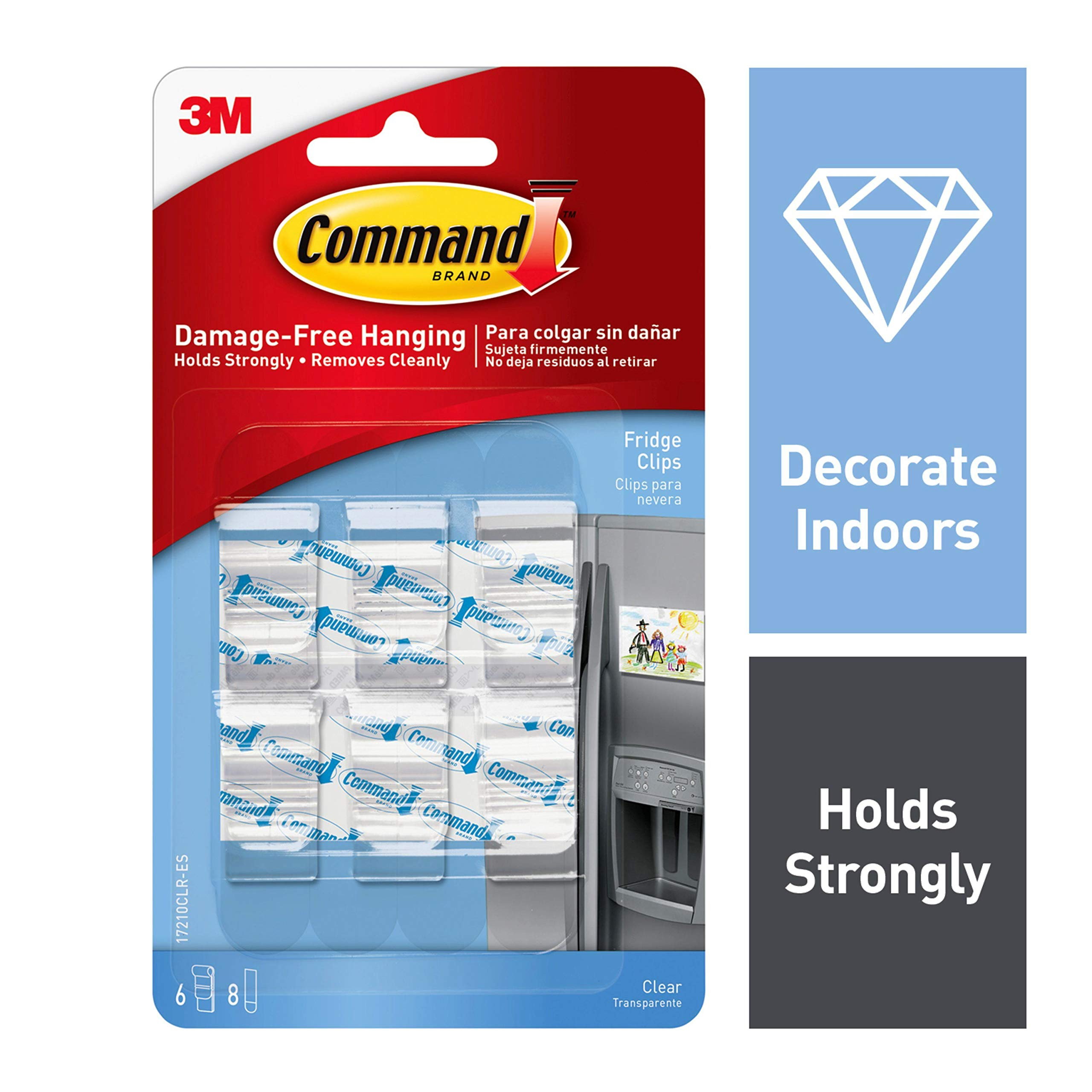 Command Fridge Clips, Clear, 6-Clips (17210CLR) by Command (Image #1)