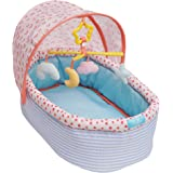"""Manhattan Toy Stella Collection Soft Baby Doll Crib with Removable Canopy and Mobile for 12"""" to 15"""" Baby Dolls"""
