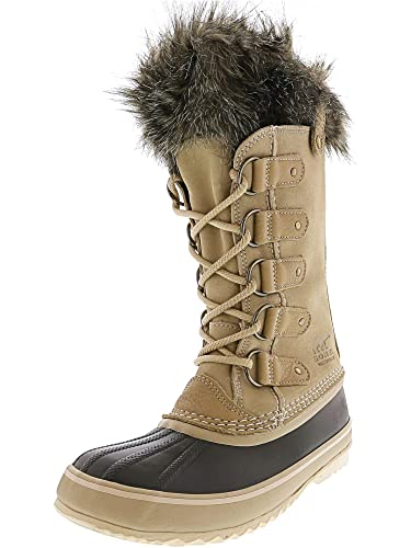 24ee50acbd90 Sorel Womens Joan of Arctic Winter Rain Snow Waterproof Fur Mid Calf Boot -  Oatmeal