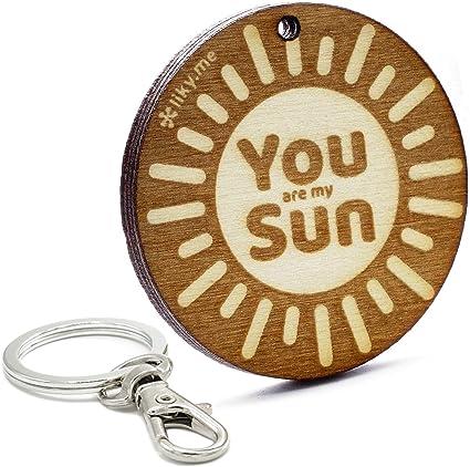 LIKY® Sol Llavero Original de Madera - tu Eres mi Sol ...