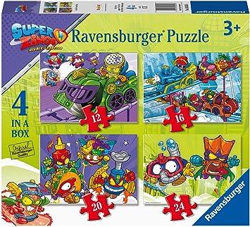 Ravensburger Super Zings para niños 3+ años, 4 Puzzle en una Caja, 12-16-20-24 Piezas (03053): Amazon.es: Juguetes y juegos