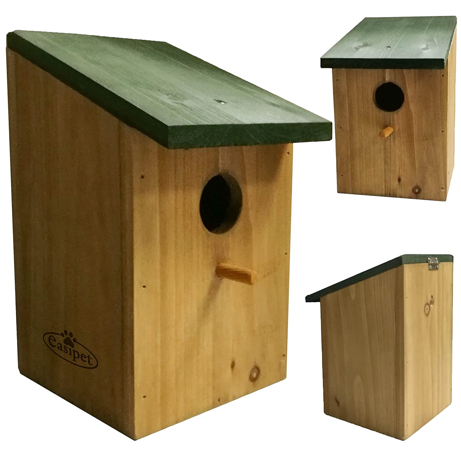 Easipet Traditional Wooden Nest Box for Small Birds i.e. Robin, Blue Tit, Sparrow (4 pcs) FED21982