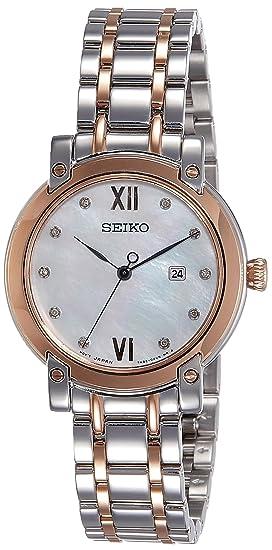 Seiko Reloj Analogico para Mujer de Cuarzo con Correa en Acero Inoxidable SXDG84P1: Amazon.es: Relojes
