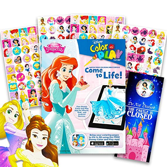 Amazon Disney Princess Coloring Book And Sticker Chart Super Set Bundle With Stickers Separately