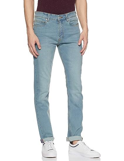 e1f00d06b92 French Connection Men's Slim Fit Jeans (543YY-LIGHT Blue_Light 28W x ...