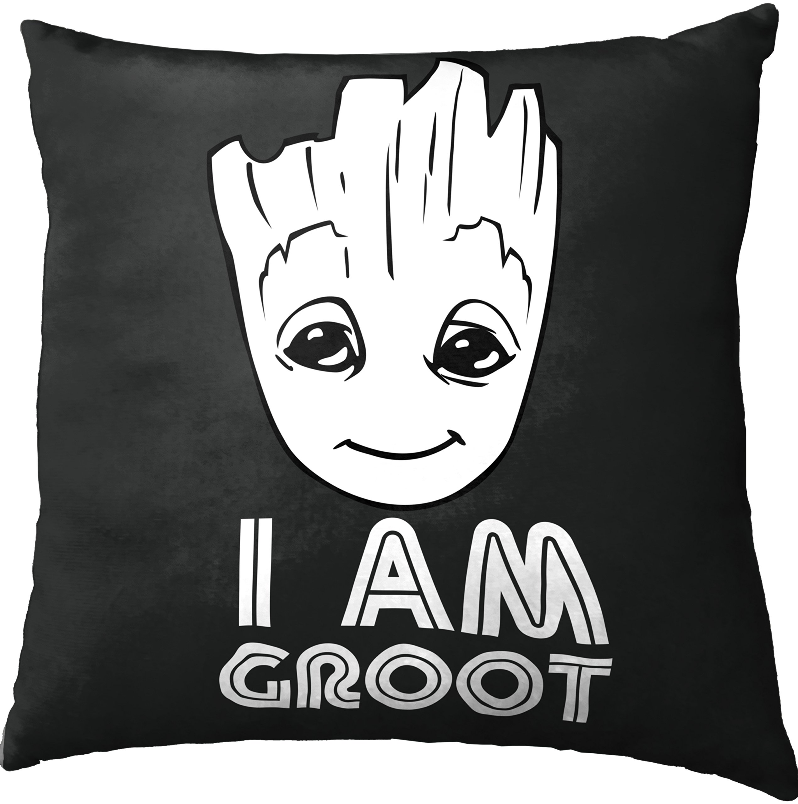 Marvel Guardians of The Galaxy 2 I Am Groot Decorative Toss Throw Pillow, 15'' x 15''