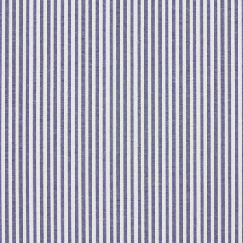A559 blue and white ticking stripes cotton heavy duty upholstery fabric by the yard