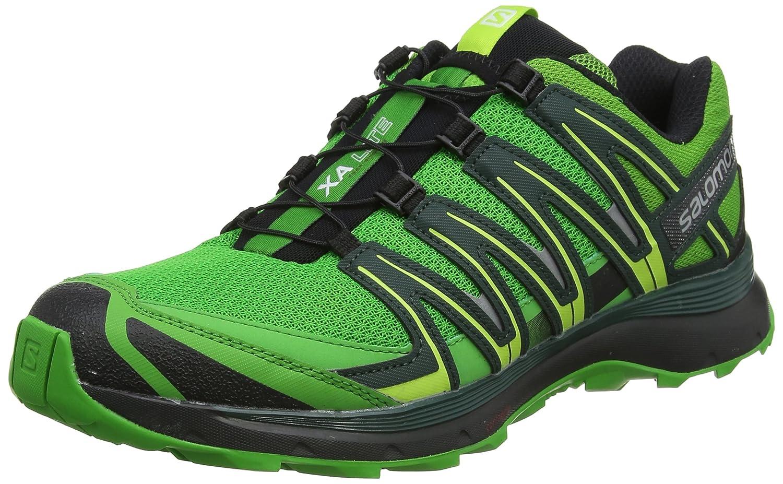 Salomon Zapatillas XA Lite de Trail Running para Hombre, Sintético/Textil 43 1/3 EU|Verde (Onlime Lime/Darkest Spruce/Black)