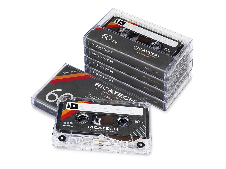 60 Minutos, 5 Unidades Ricatech CT60 Casete de Audio