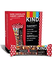 KIND Bars, Dark Chocolate Cherry Cashew + Antioxidants, Gluten Free, 1.4 Ounce Bars, 12 Count (Packaging May Vary)