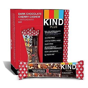 Peaceworks Tipo Plus, anacardo Cereza Chocolate Oscuro + antioxidantes, Barras Libres de Gluten (Pack de 12): Amazon.es: Electrónica