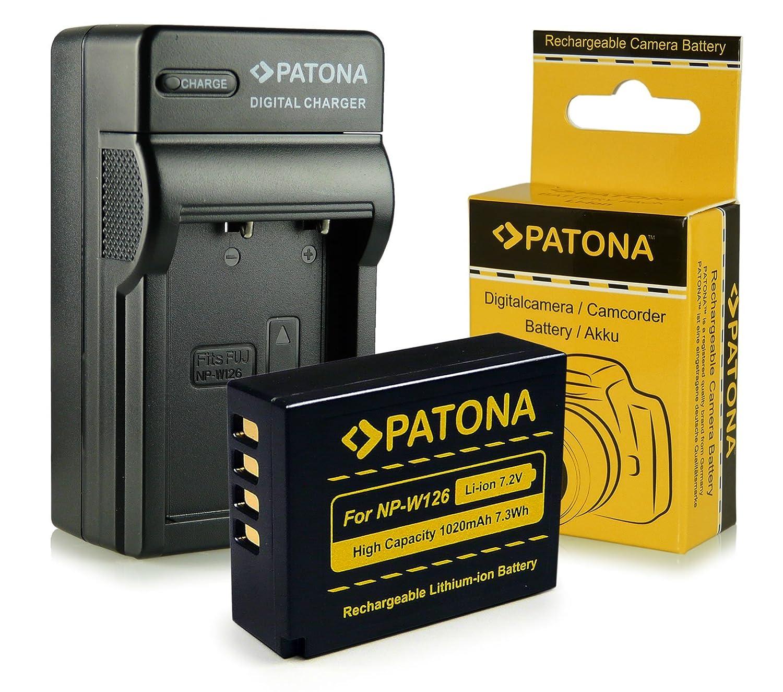 Cargador + Batería NP-W126 para FujiFilm FinePix X-Pro 1 | HS30 EXR | HS30EXR | HS-30EXR | HS33 EXR | HS33EXR | HS-33EXR | HS50EXR | X-E1 | X-M1