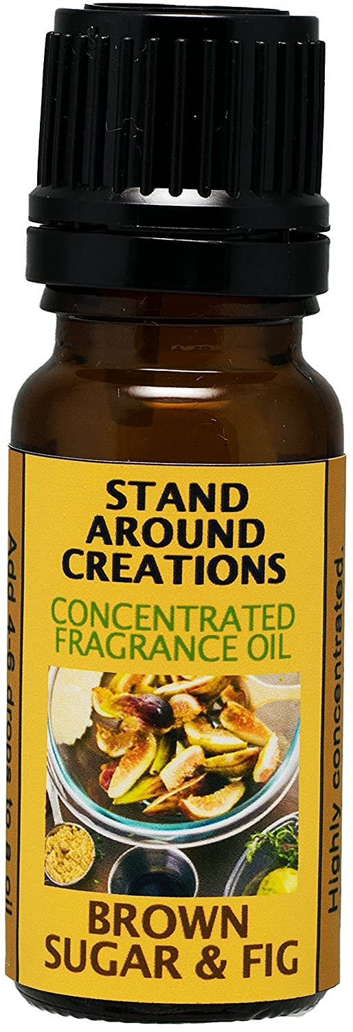 Concentrated Fragrance Oil - Brown Sugar And Fig: A great all season addition w/ notes of fig w/ caramelized brown sugar.(.33 fl. oz.) Stand Around Creations