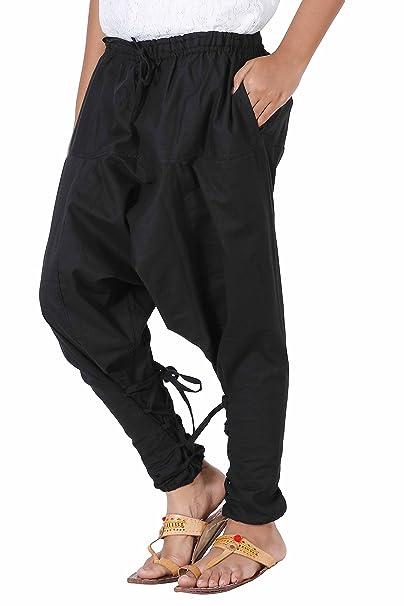 eec826c52 Kids Boys Girls Yoga Lightweight Hippie Cotton Handmade Harem Pants - Samurai  Style (Large, Black Colour): Amazon.co.uk: Clothing