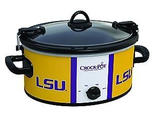 Crock-Pot Louisiana State Tigers Collegiate 6-Quart Cook & Carry Slow Cooker