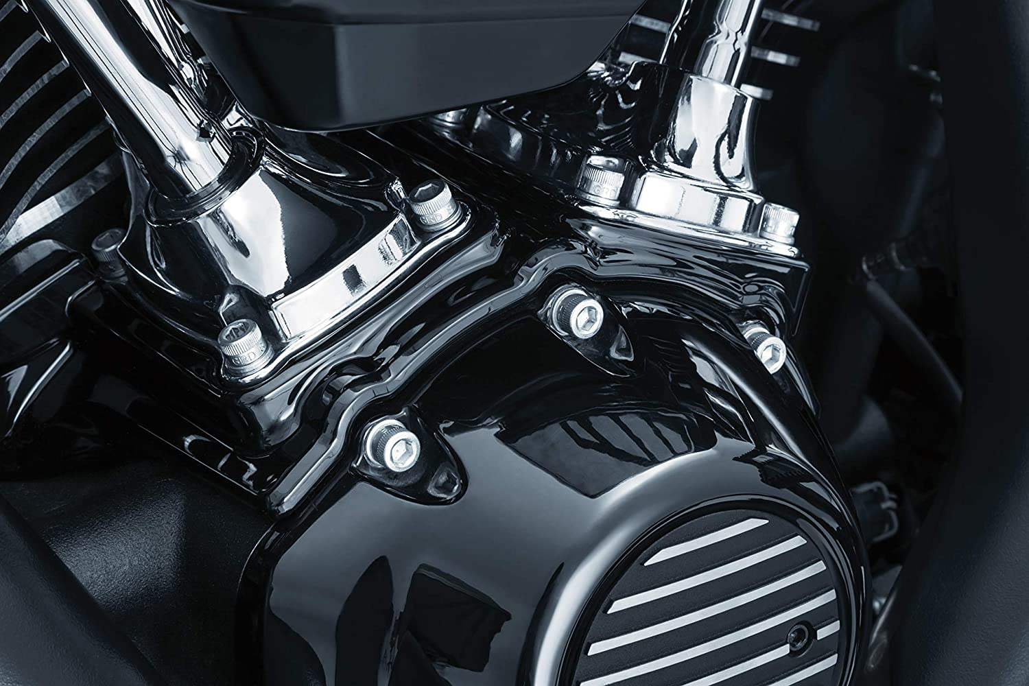 Kuryakyn 2447 Motorcycle Accessory: Kool Kaps Engine Bolt Head Covers//Topper Caps for 1//2 Hex Head Bolt Uses 3//4 Wrench Pack of 10 Chrome