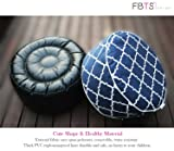 FBTS Prime Outdoor Inflatable Ottoman Navy Round