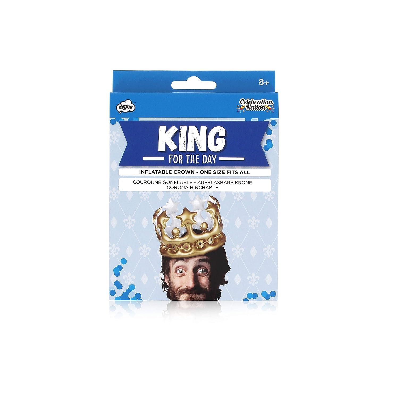 NPW Accesorio para selfie o foto de cabina, corona hinchable - Disfraz de rey del día