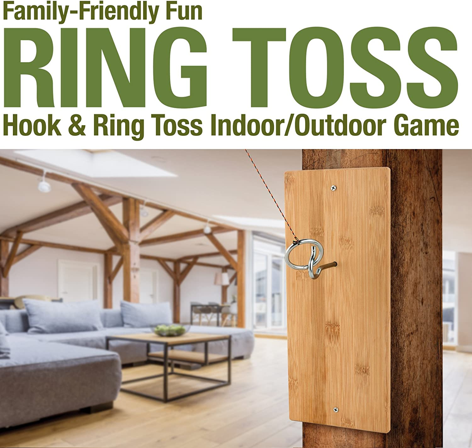 National Hardware Ring Toss Hook and Ring Indoor//Outdoor Game N999-001