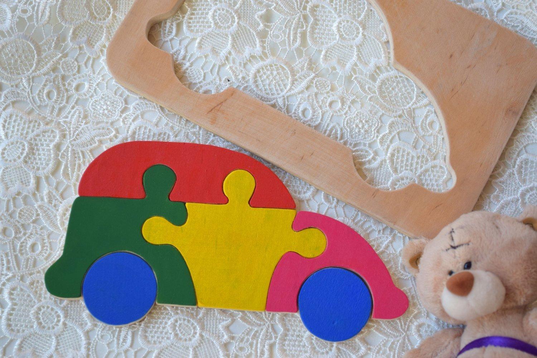 Hölzernes Puzzlespiel Baby Holz Auto Spielzeug Montessori pädagogisches Transport Spielwaren spiel Kleinkind holz Baby Geschenk Waldorf kinder Geduldspiel organisches umweltfreundliches Holz Kindspielzeug Stapel spielzeug Lern spielzeug jigsaw Puzzle Verke
