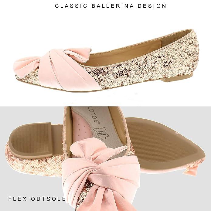 b82fd0da9 Amazon.com   Vivie Womens Dress Shoes, Sparkly Wedding Bride, Dressy Pointy  Toe Flats for Women   Flats