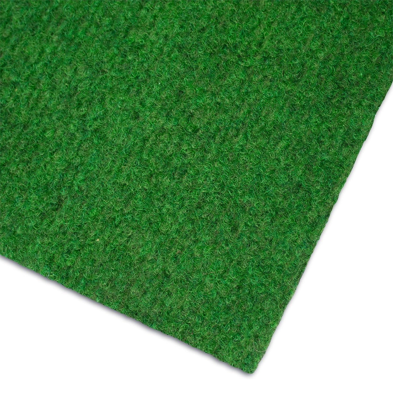 Tapis gazon artificiel casa pura® au mètre | moquette extérieure | nombreuses couleurs au choix | balcon, terrasse, jardin etc. | vert - 200x200cm