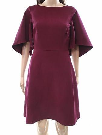 cdbdf866 Belle Badgley Mischka Women's 16 US Texture A-Line Dress Purple 12 ...