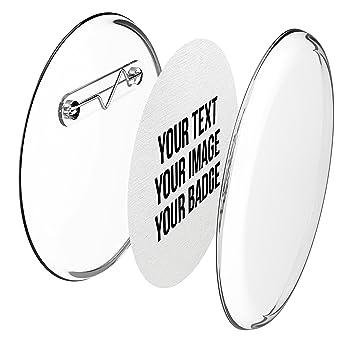 Chapas plásticas con alfiler incluido (a presión) hágalo usted mismo, sin necesidad de