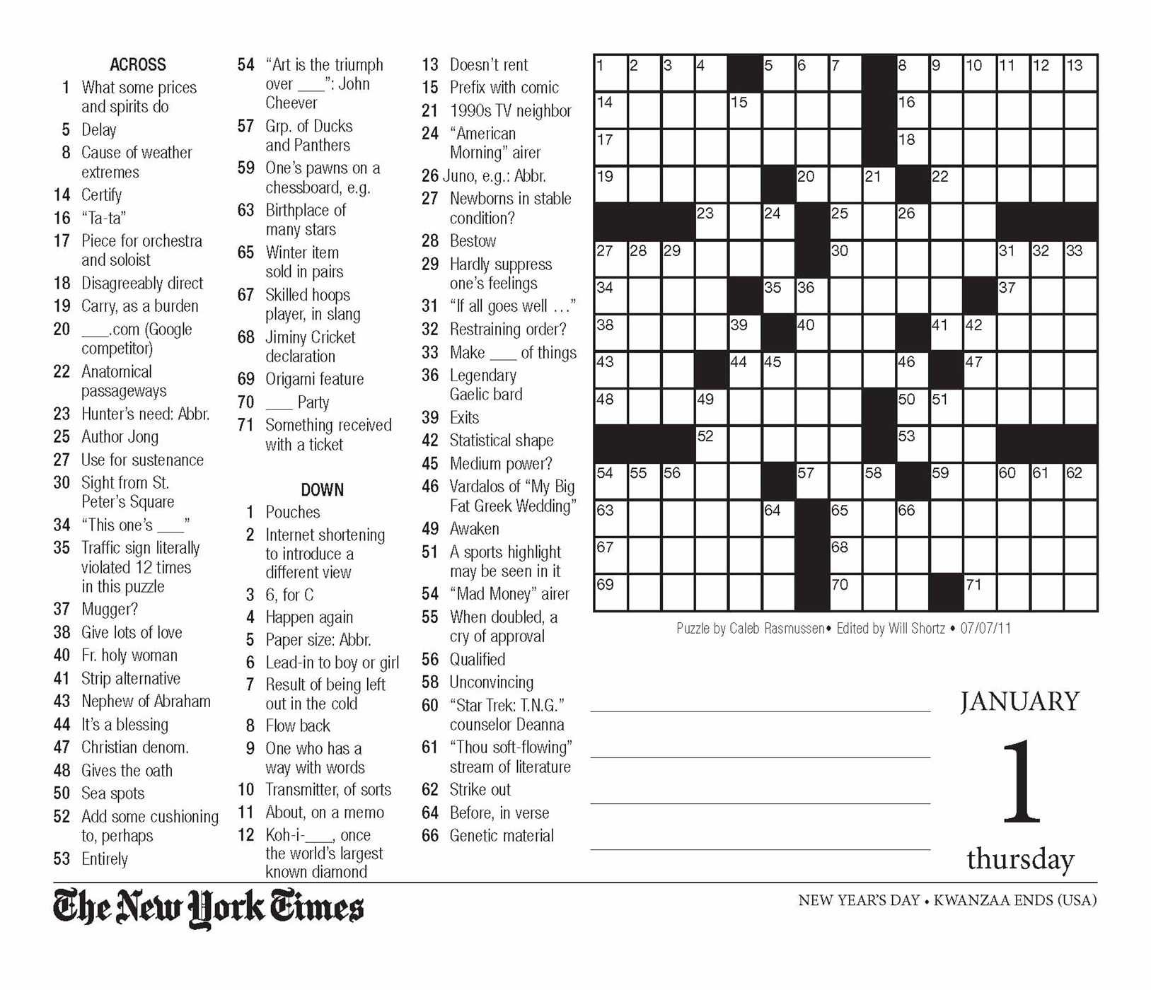 image about Printable Ny Times Crossword Puzzles identified as The Fresh new York Moments Crossword Puzzles 2015 Working day-towards-Working day