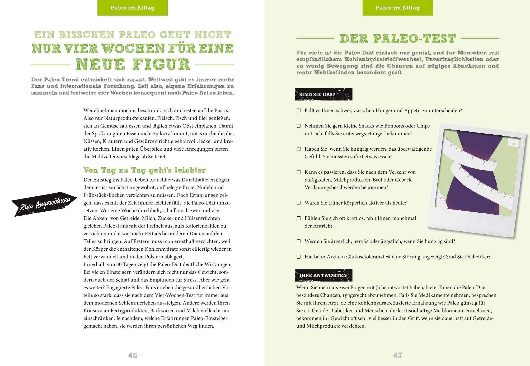 paleo-diät für einsteiger die neue steinzeitküche pur genießen gesund abnehmen