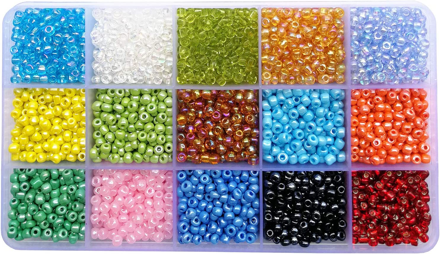 600Pcs//lot 2x6mm Long Glass Bugle Tube Seed Spacer Beads for DIY Jewelry Making