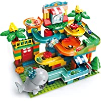 Kaekid Marble Run Building Blocks, 2 in 1 Compatible Blocks Models with 8 Marble Balls,Educational Race Track Building…