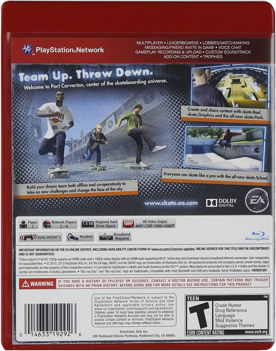 Amazon com: Skate 3 - Playstation 3: Electronic Arts: Video