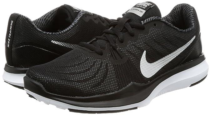 2ed7535638e2e4 Women s Nike In-Season 7 Training Shoe Black Metallic Silver Anthracite  Size 7. 5 M US  Nike  Amazon.in  Shoes   Handbags
