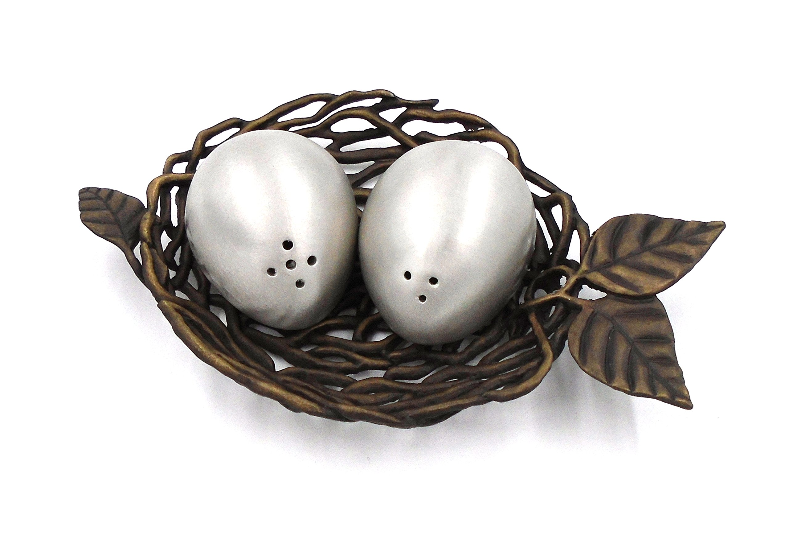 ''Bird's Nest with Eggs'' Salt Shakers by Michael Michaud for Silver Seasons Table Art by Michael Michaud (Image #2)