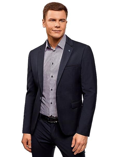 oodji Ultra Uomo Blazer Aderente con Bottone  Amazon.it  Abbigliamento 80f75f85312