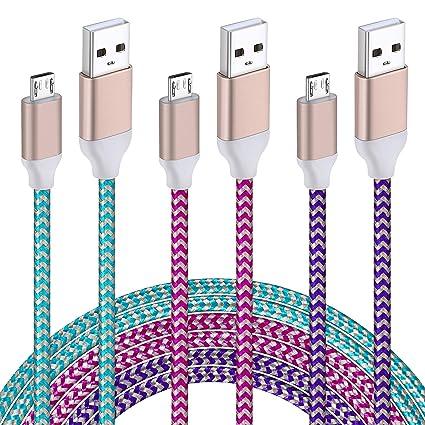 Amazon.com: Cargador de pared blanco + cable micro USB: vidaloca