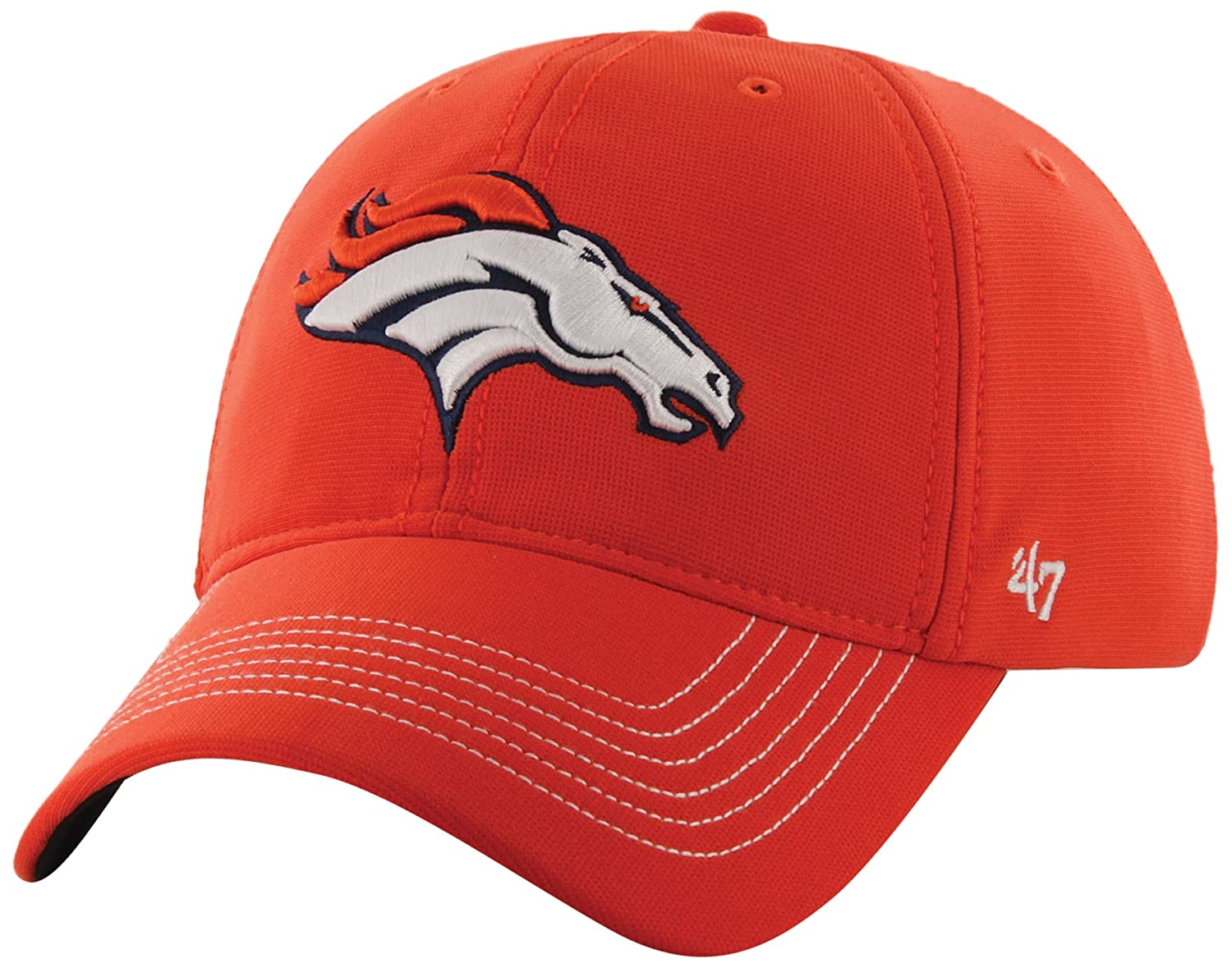 NFL Denver Broncos ' 47ブランドGame Time Closer Stretch Fit Hat One Size Stretch オレンジ B00K1AQR8S
