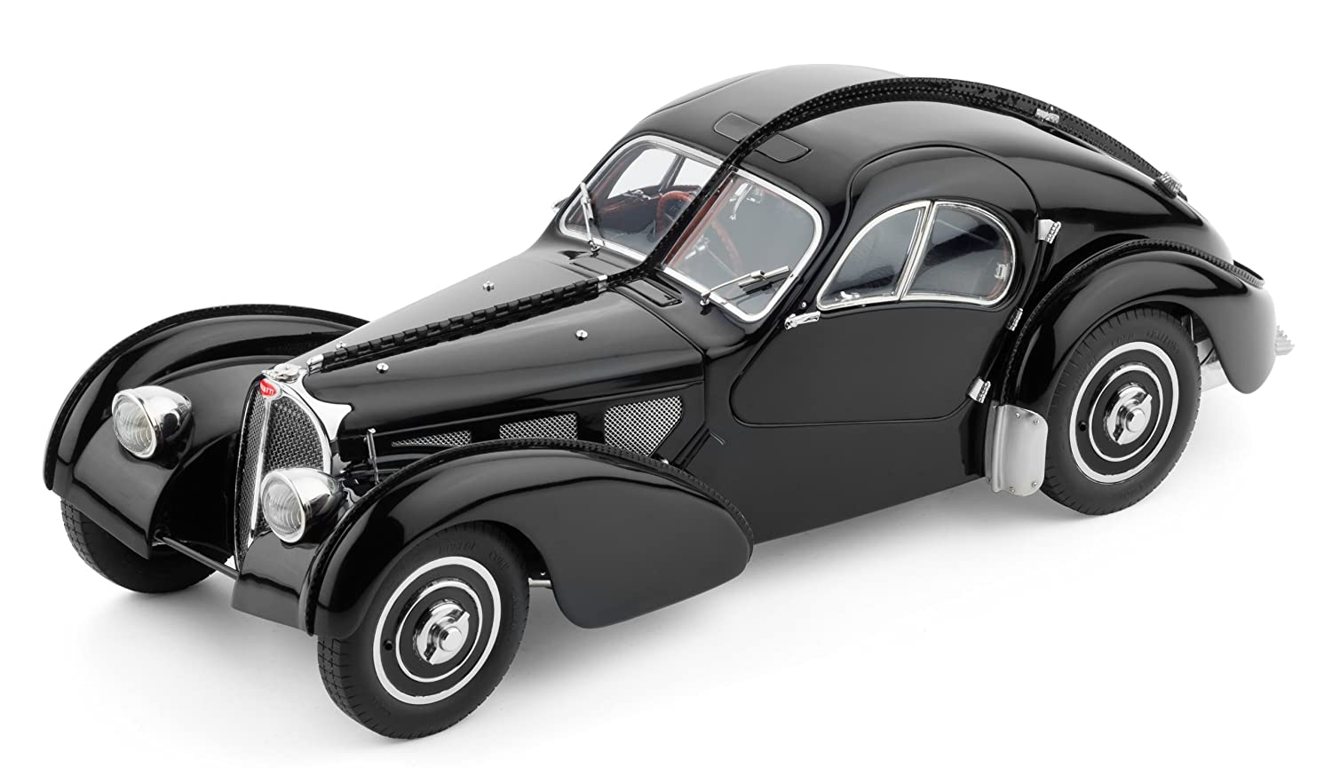 Amazon.com: Classic Model Cars Bugatti 57 SC, Atlantic 1937, Black ...