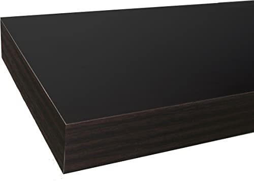 InPlace Shelving 9084652 60 in W x 10 in D x 2 in H Floating Wall Shelf with Invisible Brackets, Espresso